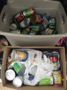 60 pounds of canned food for Manna