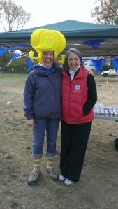 PTA Pres Colleen Reed and Mayor Newton